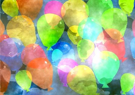 Watercolour balloons compressed